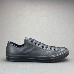 EUC Converse Chuck Taylor AS Black Mono Leather